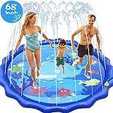 "INNOCHEER Sprinkler Splash Pad for Kids Outdoor Play, 68"" Extra Large Children's Sprinkler Pool Water Wading Pool Summer Toys for Boys Girls 3"
