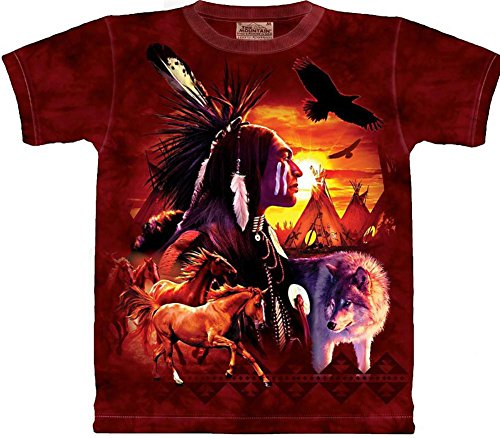 The Mountain - - Männer Indian Collage T-Shirt, XXX-Large, Multi