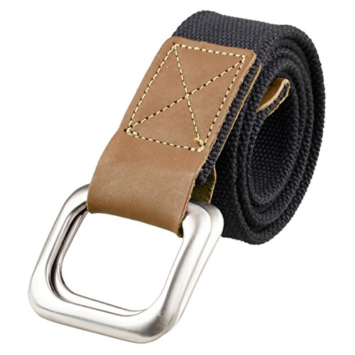 Classic D-ring Belt (Samtree Canvas Belts for Men,D Ring Buckle Adjustable Military Style Leather Web)