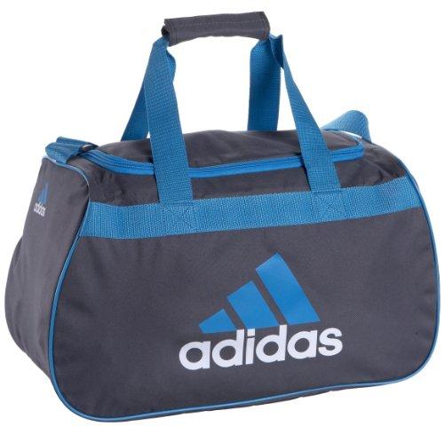 (adidas Diablo Small Duffel Bag, Lead/Fresh Splash, One)