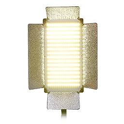 Bi-Color Light Panel Kit Portrait Video Studio Lighting Dimmer w/ Mount 500 LED