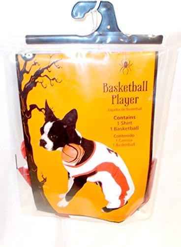 Costume Player Toddler Basketball (Basketball Basket Ball Player Dog Costume S 10-12')
