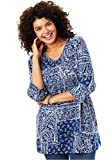 Women's Plus Size Perfect Print V-Neck Tunic