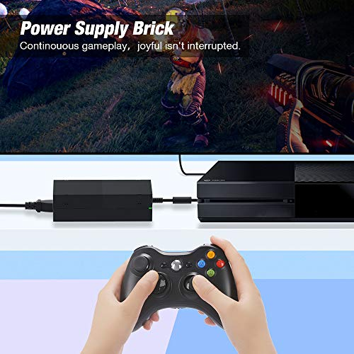 Power Supply for Xbox One, Y Team AC Power Adapter Power Supply Brick with Cord for Xbox One Console, 100-240V Auto Voltage