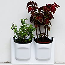 Self Watering Vertical Planter,Wall Mounted Flowerpot,Hanging Plant Pots,Living Wall Plants Holder,Indoor & Outdoor Decoration Planting Pot,One Set with 2-pockets and 2pc Filter Layer