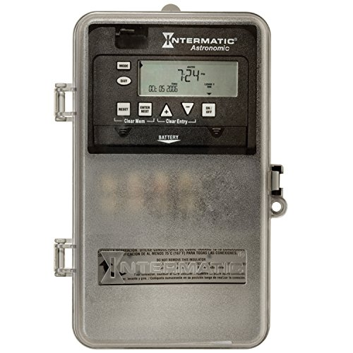 (Intermatic ET8015CPD82 7-Day 30-Amp SPST Electronic Astronomic Time Switch, Clock Voltage 120-277 VAC, NEMA 3R Plastic Cover, 1-Circuit/30-Amp, Gray)