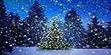 GladsBuy Shiny Christmas Tree 20' x 10' Computer Printed Photography Backdrop Christmas Theme Background LMG-188