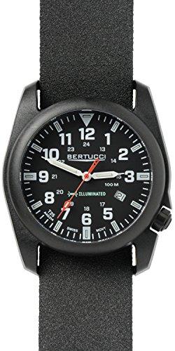 Bertucci A-5P Illuminated Watch Black-Black Tridura Band ...