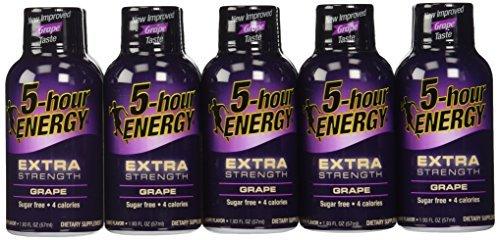 3 X 24 : 5-Hour Energy Extra Strength Nutritional Drink, Grape, 1.93 oz by 5 hour