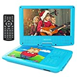 "DBPOWER 9"" Portable DVD Player for Kids, Swivel Screen, 4 Hours Rechargeable Battery"