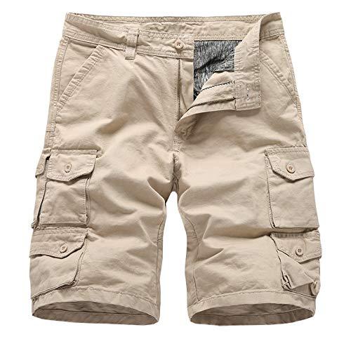 Pantalones Cortos para Hombre Sasstaids Verano Cargo Shorts ...