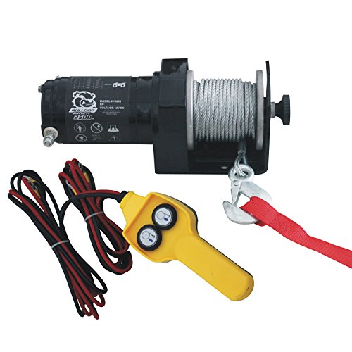 Bulldog Winch 15008 Winch (2000lb Utility with 50 Ft Wire Rope, Hand held Controller)