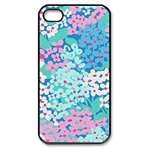 Blue Flowers New Fashion DIY Phone Case for Iphone 4,4S,customized cover case ygtg612675