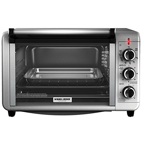 Black & Decker TO3210SSD Countertop Convection Toaster Oven, Silver in ...