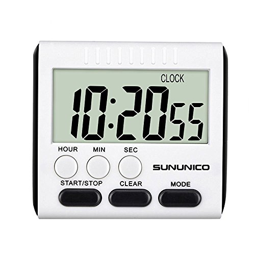 SUNUNICO Timer Cooking Clock Magnetic Retractable Stand Minute product image