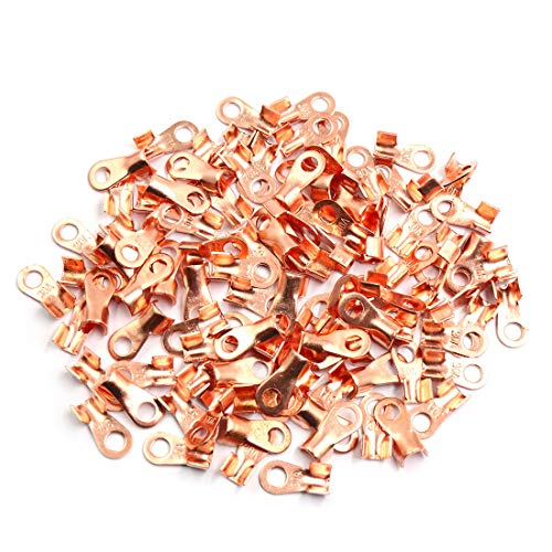 Sourcingmap 100pcs 30A Copper Ring Terminals Lug Battery Cable Connector: