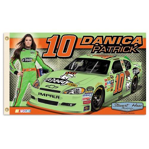 Danica Patrick #10 NASCAR 2-Sided 3x5 Flag