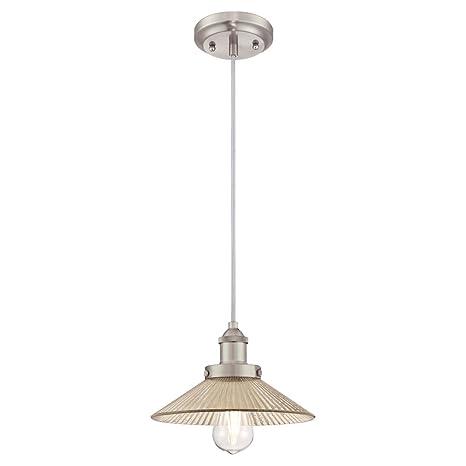 Westinghouse One-Light Indoor Pendant Lámpara de Techo, Níquel cepillado, 147 cm