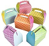 Rhode Island Novelty Colorful Polka Dot Party Favor Treat Boxes