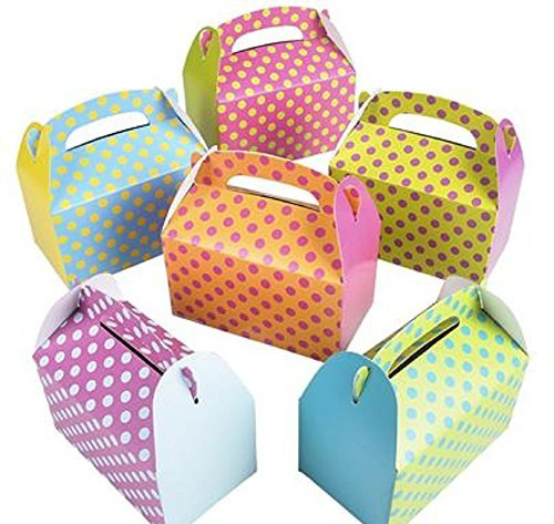 RIN Colorful Polka Dot Party Favor Treat Boxes