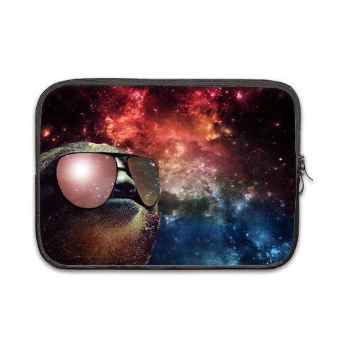 Space Nebula Universe Sloth Wearing Sunglasses 100% Water Resistant Sleeve for Macbook Pro 12