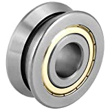 Walfront 20 * 57 * 22mm Stainless Steel Ball Bearing Grease V Groove Roller Guide Sealed Ball Bearing Accessory