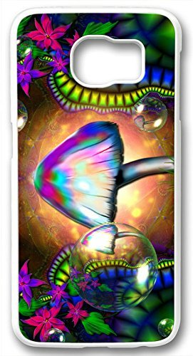 Digital Art Miscellaneous Trippy Colorful Case for Samsung Galaxy S6 Edge PC Material White(Compatible With Verizon,AT&T,Sprint,T ()