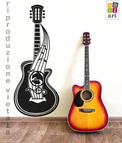 wall art - Adhesivo de Pared para Guitarra acústica - Medidas 41 x ...