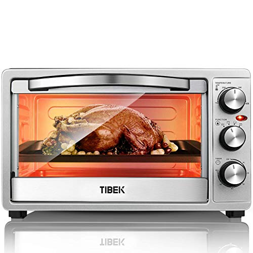 Toaster Oven 6 Slice Oven Toaster SpeedBaking, for Toast Bake Broil Function with 4 Heating Elements Intuitive Easy-Reach Toaster Oven Broiler, Stainless Steel Toaster Oven
