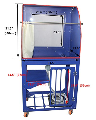 Vertical Type Screen Printing Washout Tank 110V Backlighting Silk Screen Washing Booth by Screen Printing Equipment