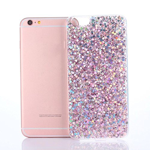 Price comparison product image Glitter Ultra-Thin Glitter TPU Case Aobiny Cover For iphone 6 Plus 5.5 Inch (pink)