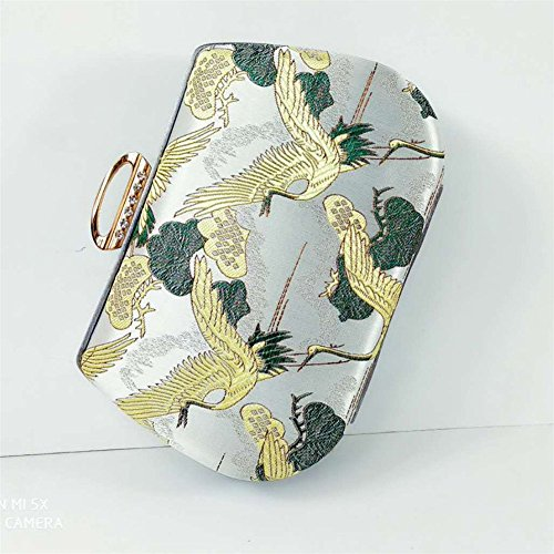 Handbag Dress Evening Orfila Embroidery Chain Shoulder Wedding Party Vintage Clutch Handmade Women's OEw48