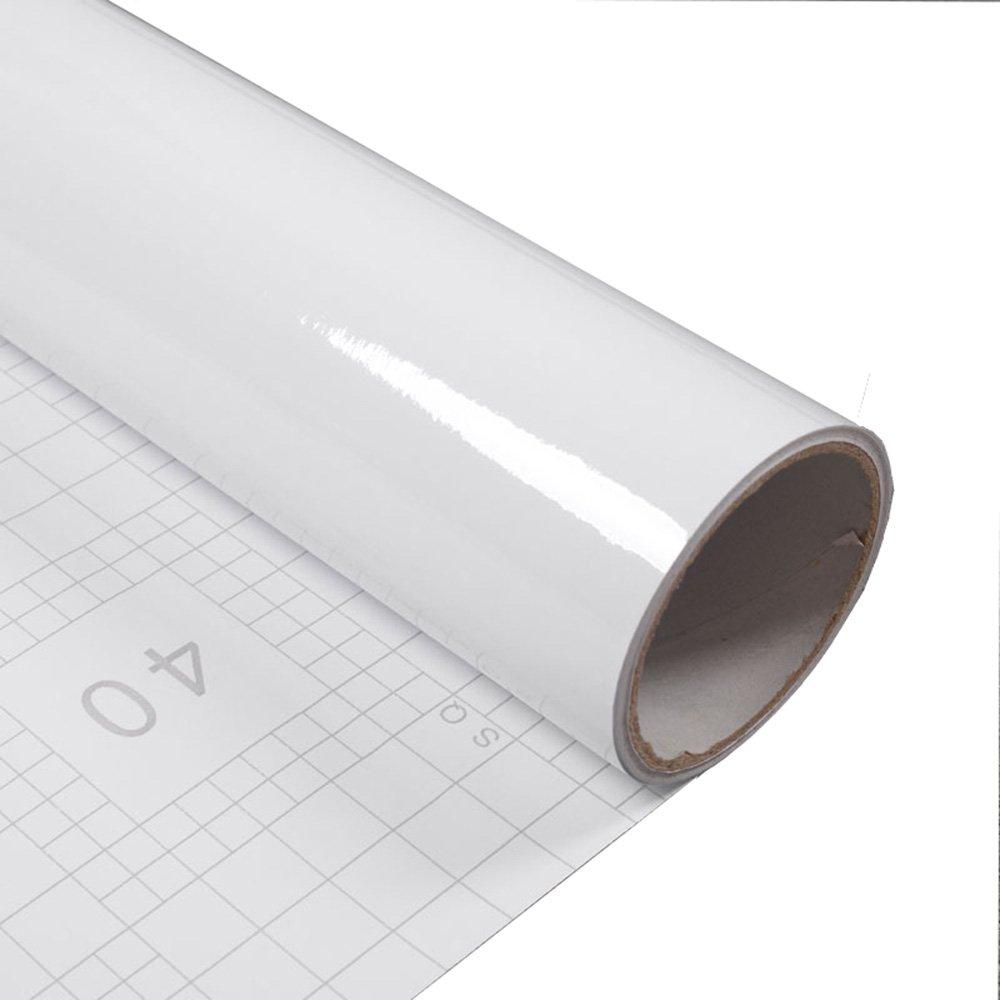 Hochglanz Wasserdicht Selbstklebendes Vinyl weiß Kontakt Papier Film ...