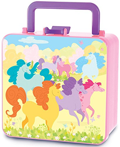 The Piggy Story 'Dancing Ponies' Double Decker Handled Bento Lunch Box for Kids