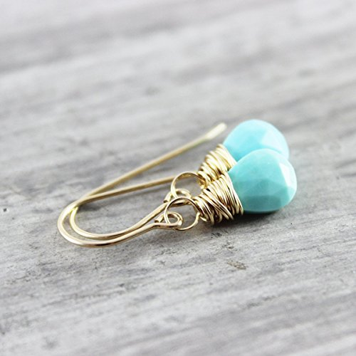 Small Turquoise Gemstone Earrings (Stone Turquoise Earrings)