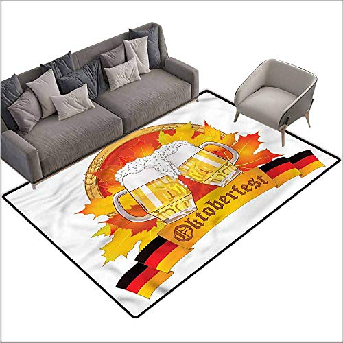 Washable Kitchen Area Rug Oktoberfest,Tasty Ale Beer Cheers 60
