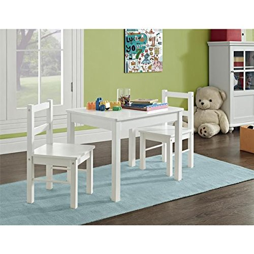 Altra by Cosco Hazel Kid's White 3-piece Table and Chair Set by Altra