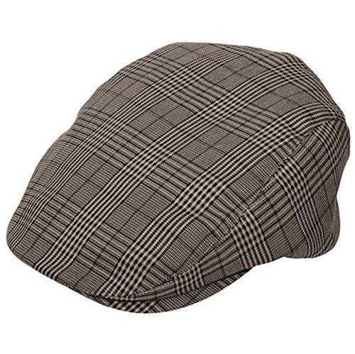 BROWN Plaid Ivy Newsboy Cabbie Cap