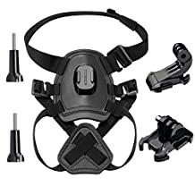 ASOCEA Fetch Dog Harness Chest Mount for Gopro HERO 5 4 3 Black Silver SJCAM SJ5000 Xiaomi Yi AKASO Pictek APEMAN Sports Action Camera Pet Accessories kit