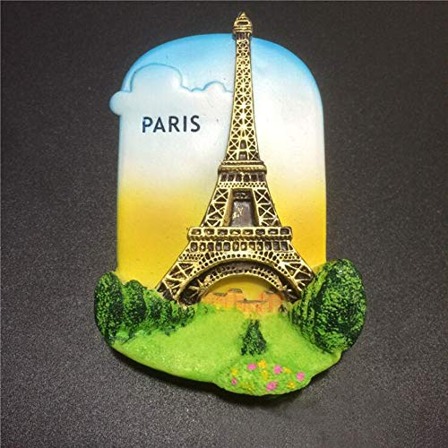 - Eiffel Tower Paris France, 3D resin strong refrigerator magnet.