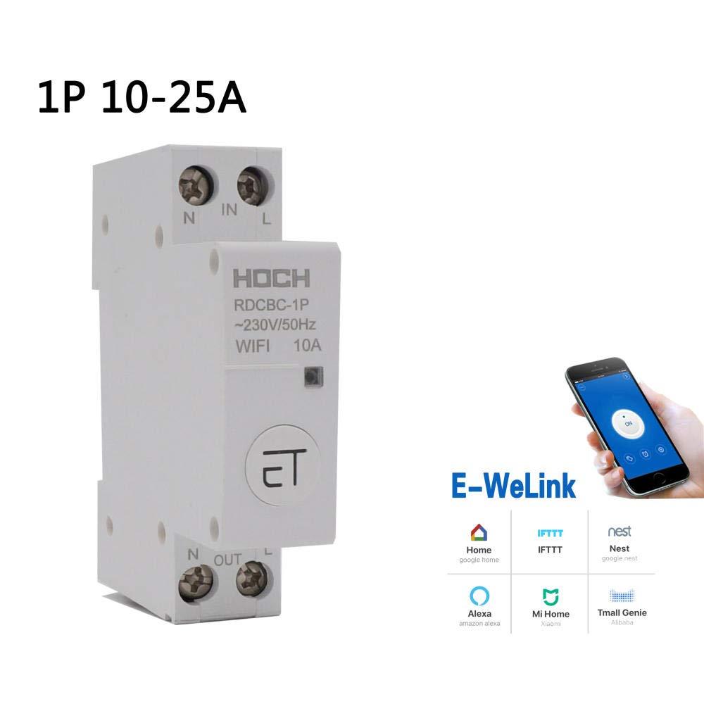 Disjoncteur WIFI t/él/écommande eWeLink minuterie intelligente maison intelligente interrupteur de maintien magn/étique-1P/_10A