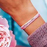 Pura Vida Boarding 4 Breast Cancer Bracelet