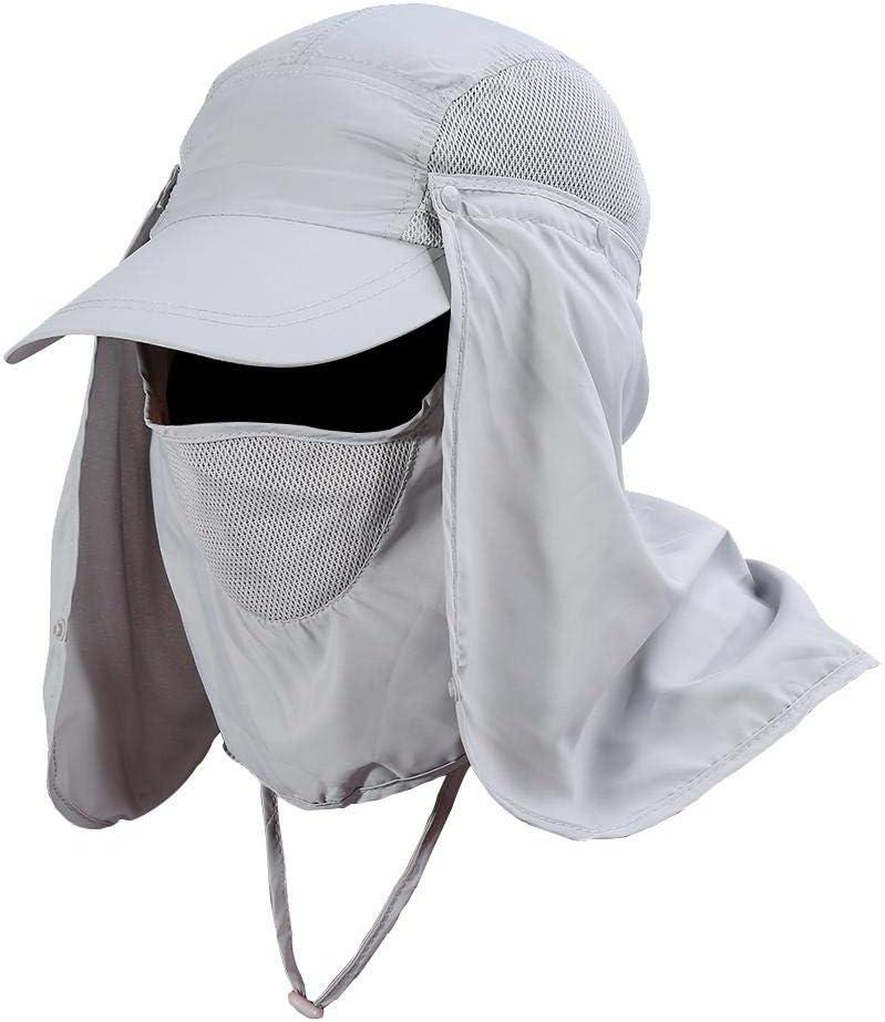VGEBY1 Angeln Kappe 360 /° UV-Sonnenschutz Hut breiter Krempe abnehmbar f/ür Outdoor-Angeln Wandern Klettern