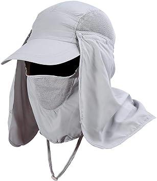 Gorra de Pesca Al Aire Libre Tela de Secado rápido Sombrero para ...
