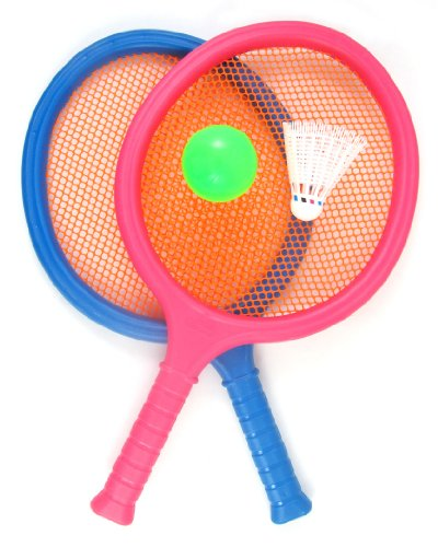 Liberty Imports Badminton Set for Kids with 2 Rackets, Ball and Birdie - Junior Tennis Racquet Play Game Beach Toys -