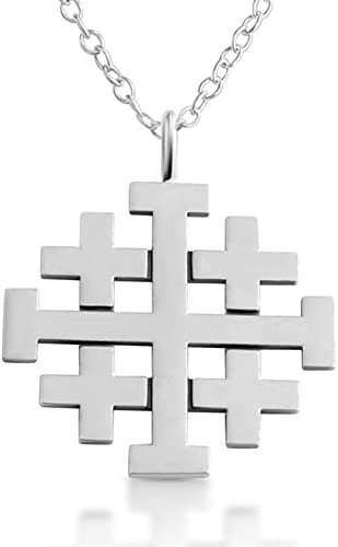 Solid 925 Sterling Silver Jesus Christ 25mm Cross Pendant Italy