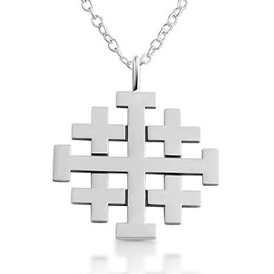 Amazon 925 sterling silver jerusalem crusaders cross pendant 925 sterling silver jerusalem crusaders cross pendant aloadofball Images