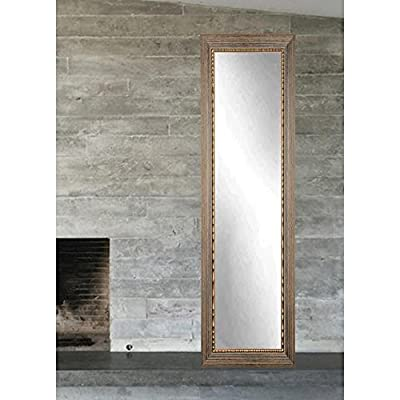 Bronze Wood Trail Full Length Dressing Leaning Floor Vanity Wall Mirror - Hanging hardware for vertical or horizontal installation included. Premium Clear glass and frame are custom cut to the perfect fit Weight: 35 lbs. Dimensions: 16.5L x 71.5W x 1.5H - mirrors-bedroom-decor, bedroom-decor, bedroom - 513DjWKIvhL. SS400  -