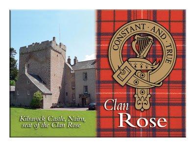 iLuv Rose Scottish Clan Metallic Picture Fridge Magnet ()