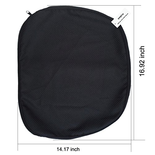 Non Slip Cover 43 x 36 cm with Zipper for Wonder Egg Seat Chair Wheelchair Gel Cushion AnyBack Black Pack 1 Brand Name: ()
